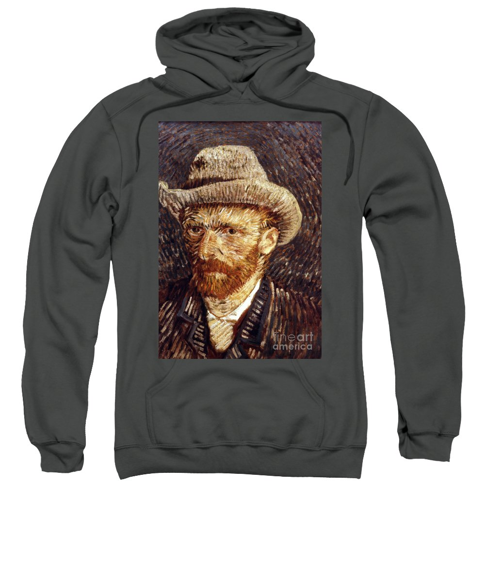 1887 Sweatshirt featuring the photograph Vincent Van Gogh by Granger