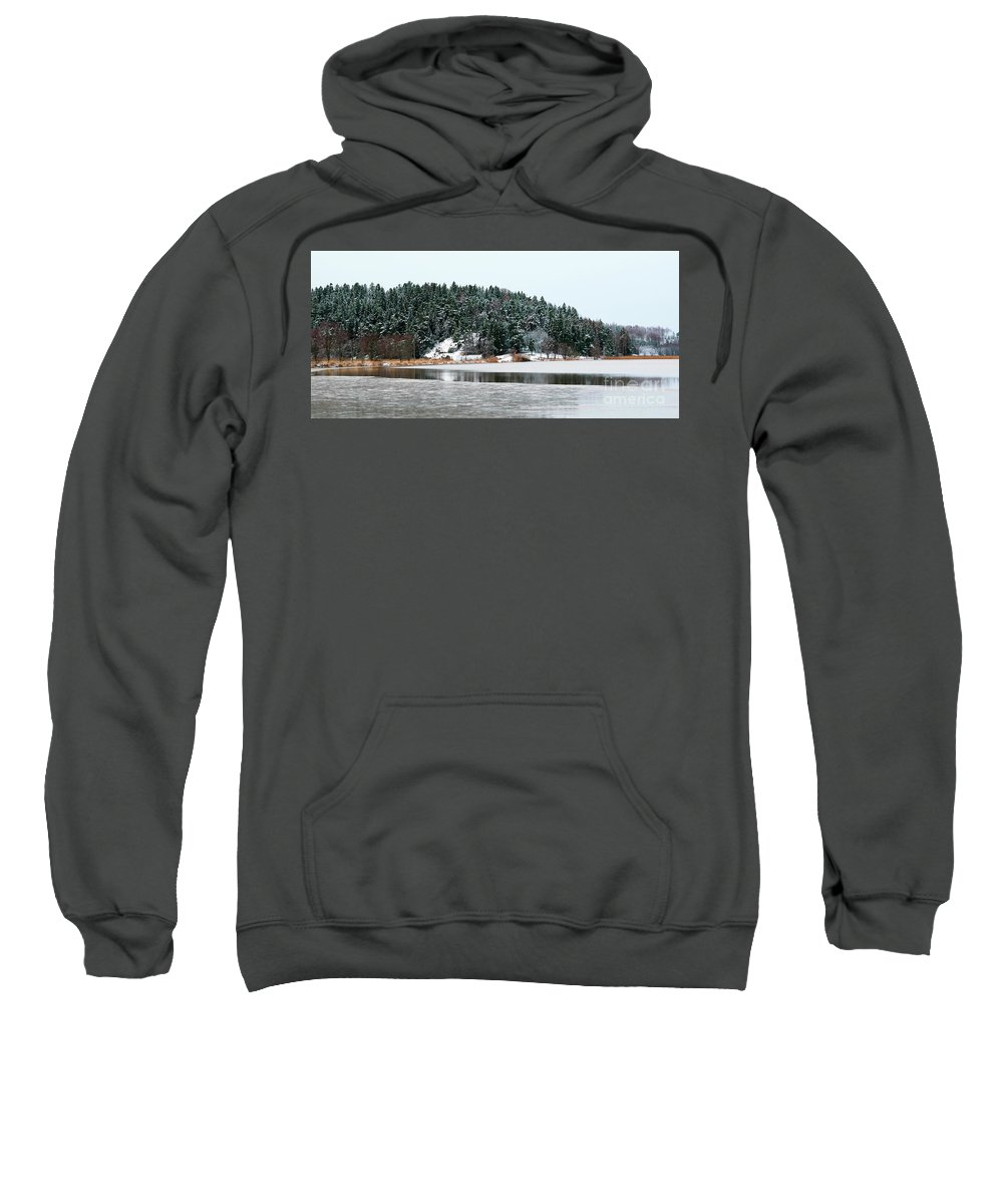 Island Sweatshirt featuring the photograph Winter by Esko Lindell