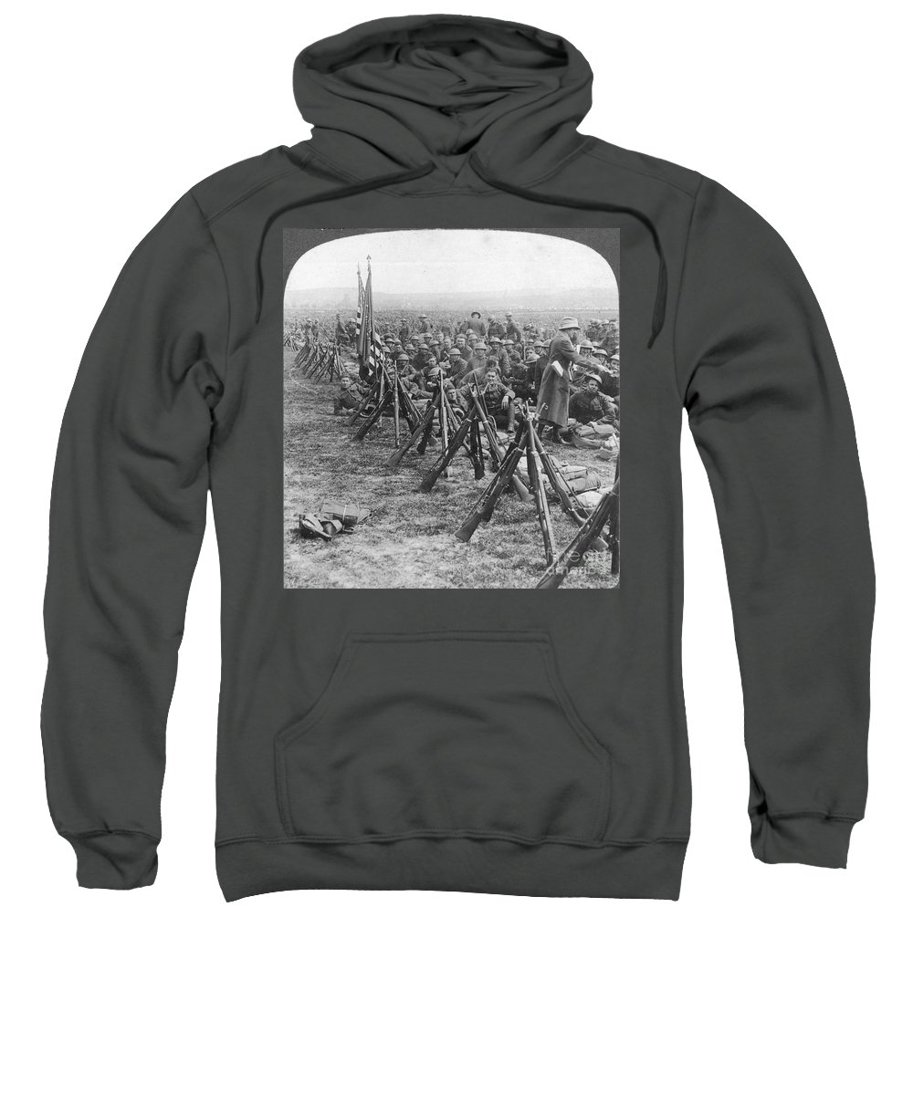 1919 Sweatshirt featuring the photograph World War I: U.s. Troops by Granger