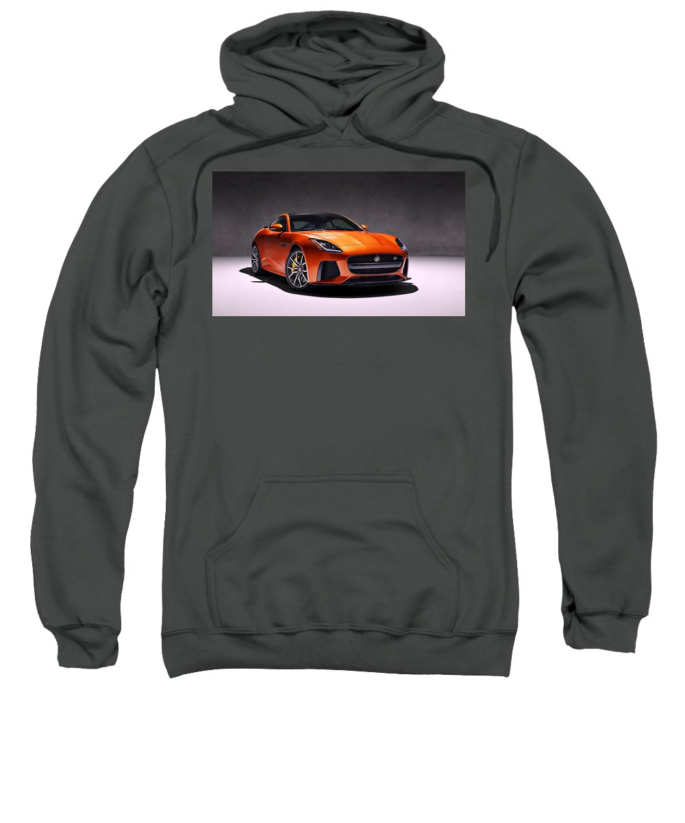 Jaguar Sweatshirt featuring the photograph 2017 Jaguar F Type by Movie Poster Prints