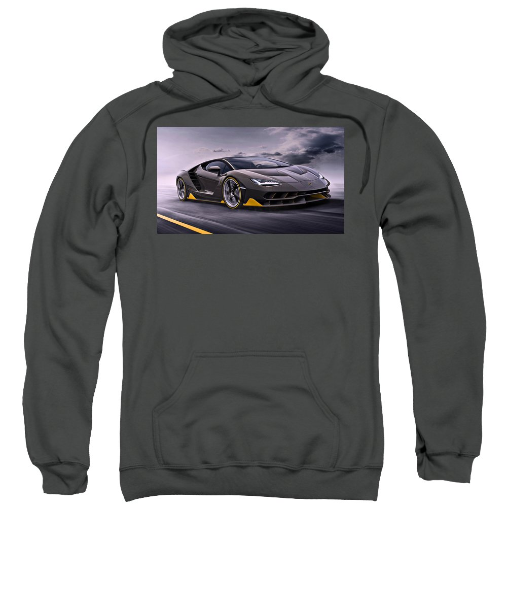 Lamborghini Sweatshirt featuring the photograph 2017 Lamborghini Centenario by Movie Poster Prints