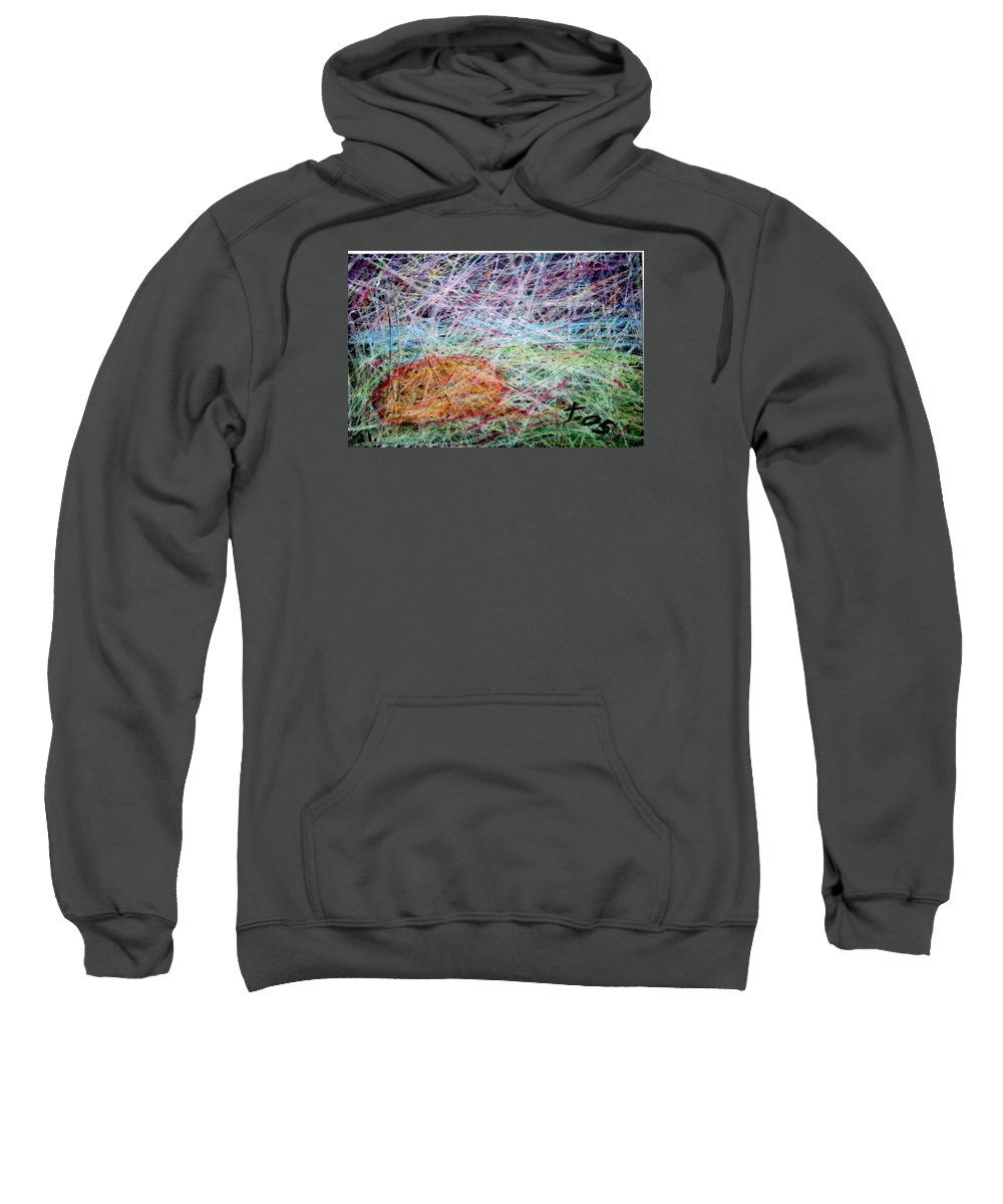 Sweatshirt featuring the painting 21 by Terry Wiklund