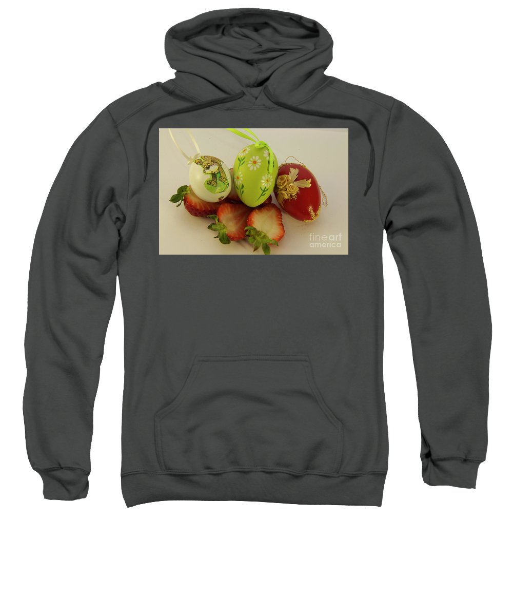 Easter Eggs Sweatshirt featuring the photograph Easter Eggs by Elvira Ladocki