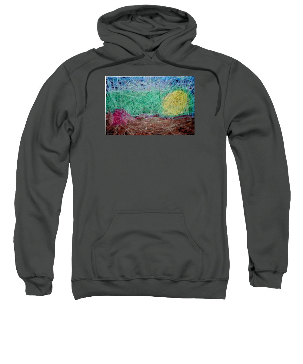 Sweatshirt featuring the painting 22 by Terry Wiklund