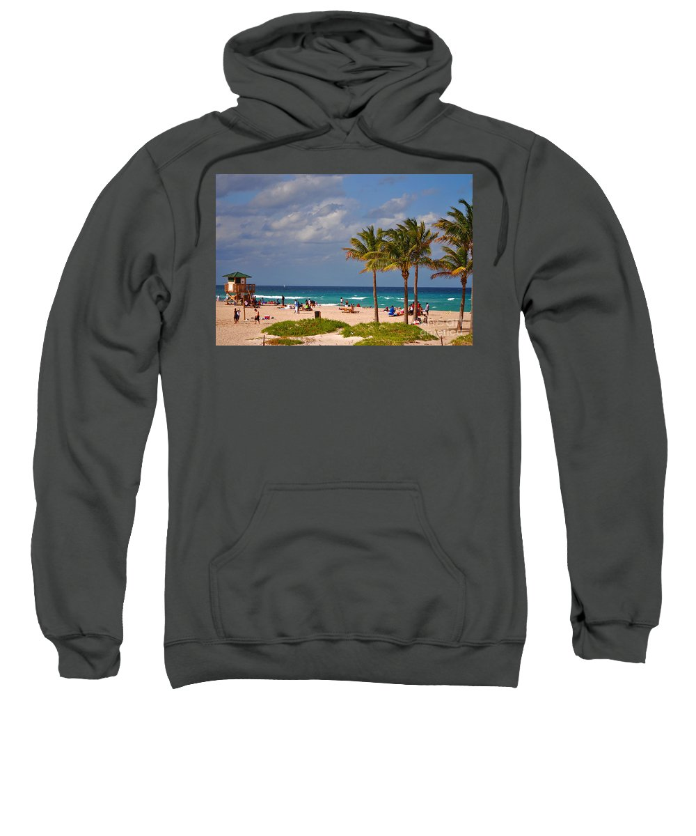 Singer Island Sweatshirt featuring the photograph 23- A Day At The Beach by Joseph Keane