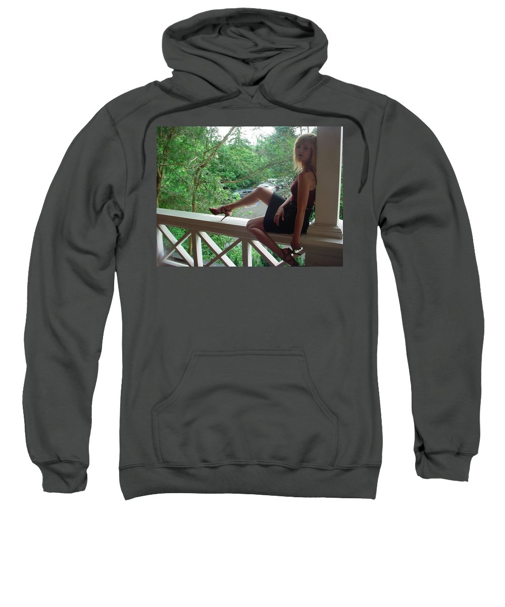 Samantha Sweatshirt featuring the photograph 24 by Samantha Sanders