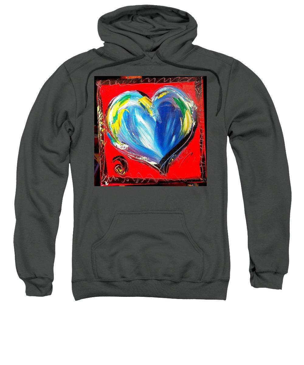 Landscape Framed Prints Sweatshirt featuring the painting Heart by Mark Kazav