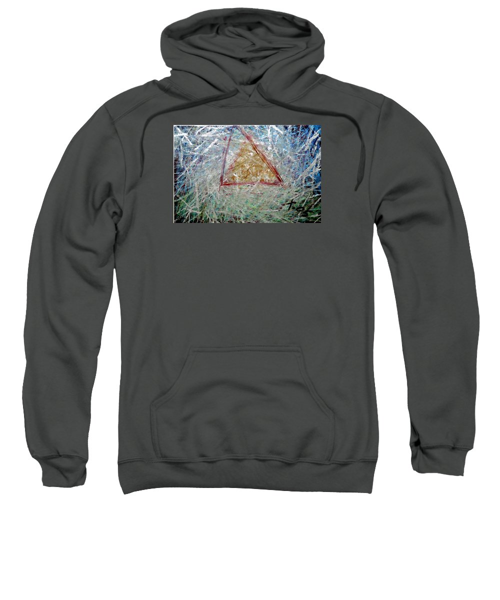Sweatshirt featuring the painting 26 by Terry Wiklund