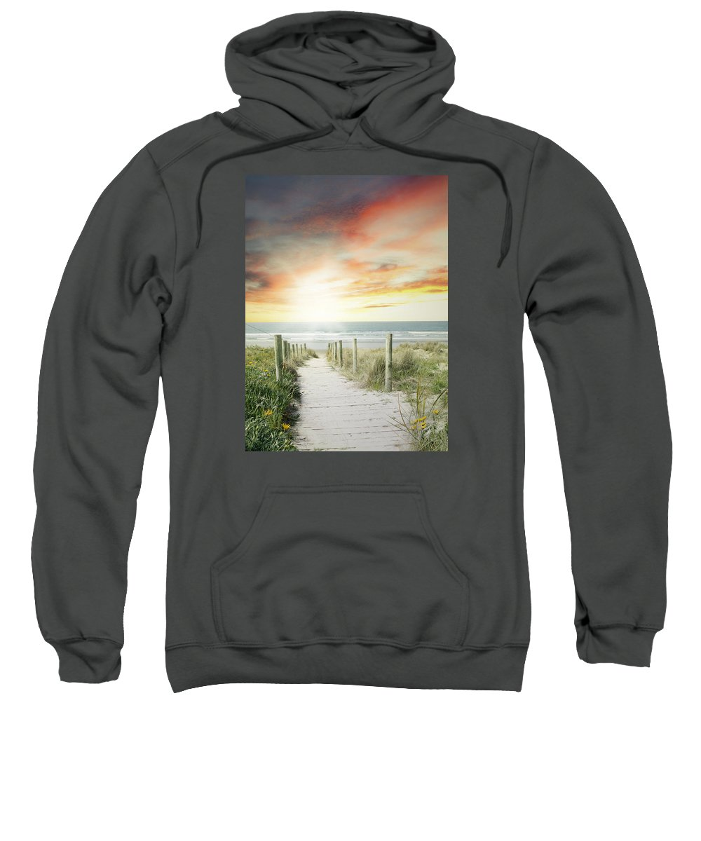 Beach Sweatshirt featuring the photograph Beach View by Les Cunliffe