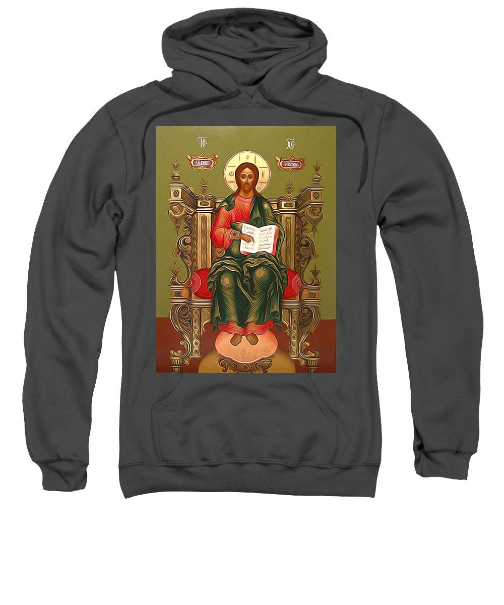 Jesus Sweatshirt featuring the photograph Jesus Christ Lord Savior by Carol Jackson