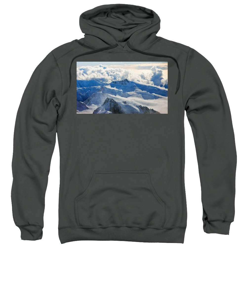 Landscape Sweatshirt featuring the painting Landscape Nature by World Map