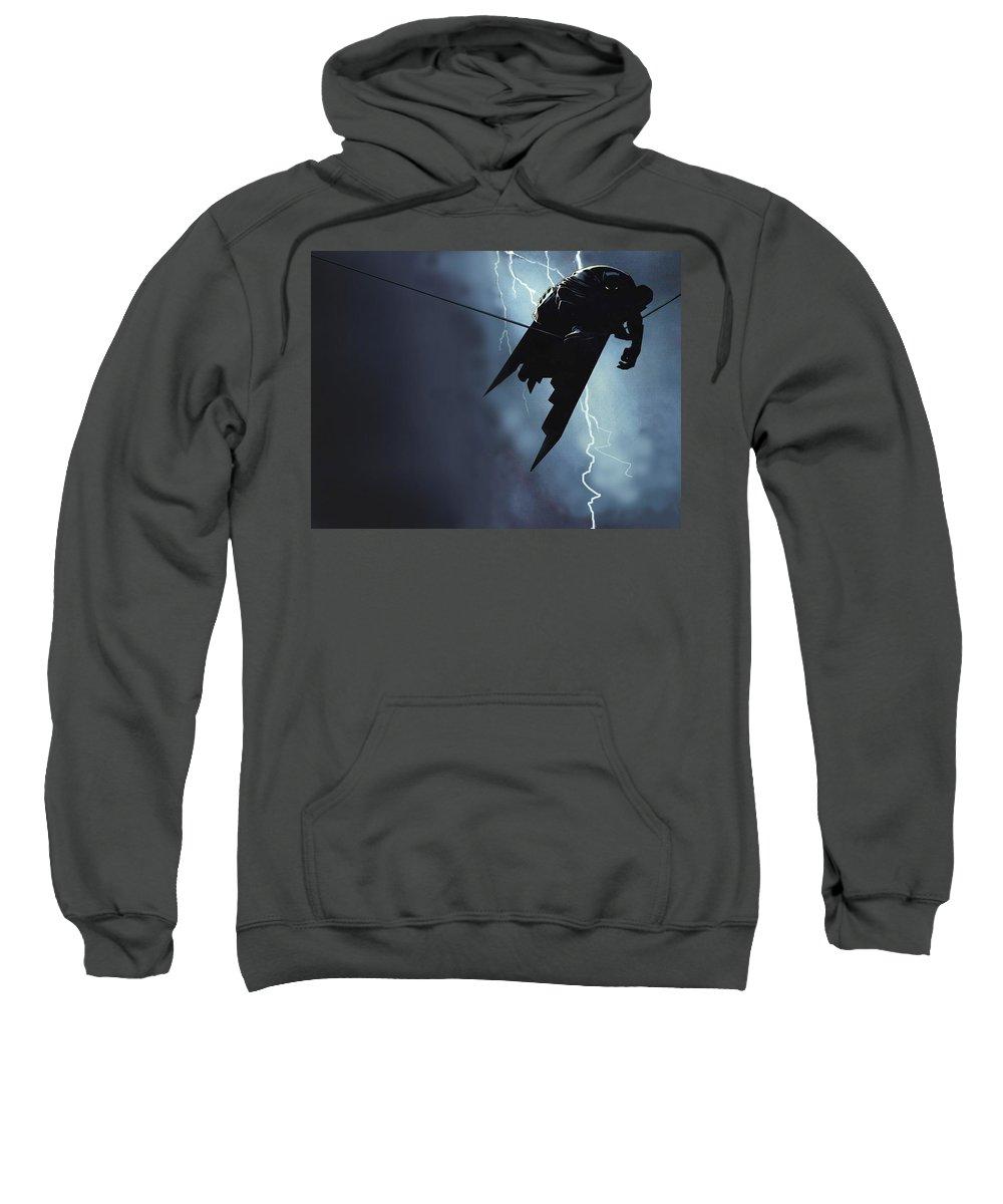Batman Sweatshirt featuring the digital art Batman by Mery Moon