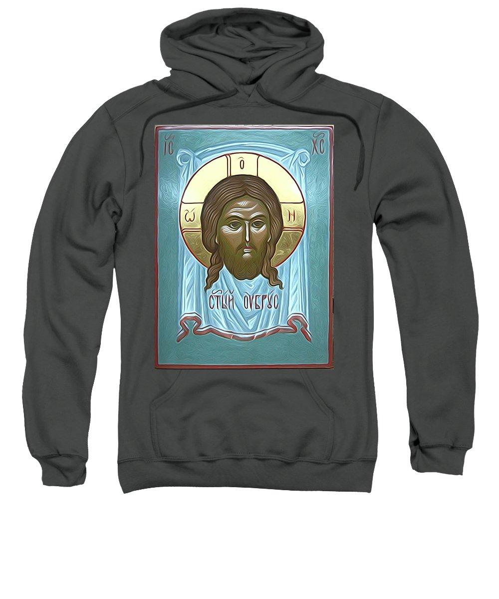 Jesus Sweatshirt featuring the digital art Jesus Christ Savior by Carol Jackson