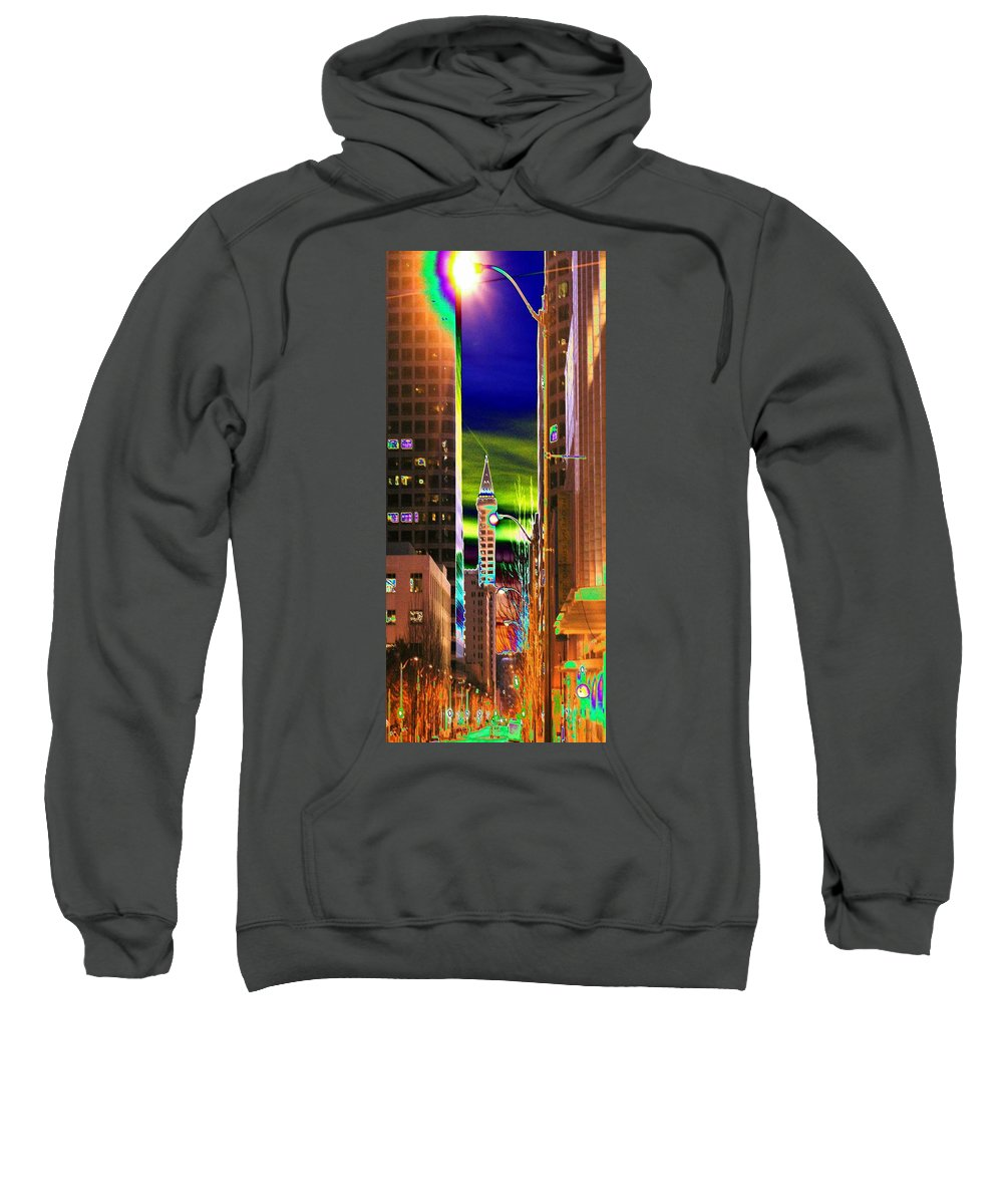 Seattle Sweatshirt featuring the photograph 2nd Avenue Sunrise by Tim Allen