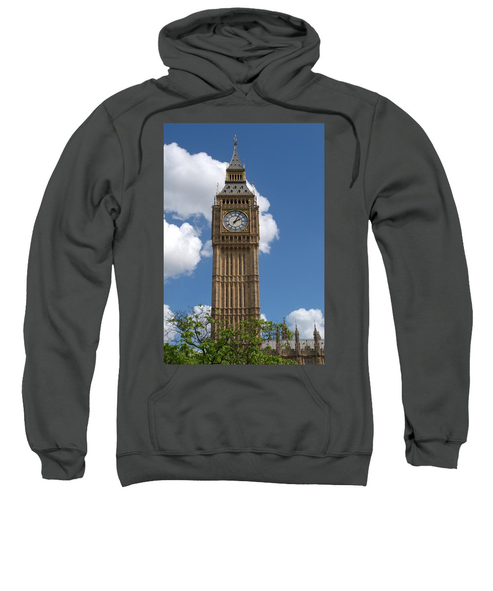 Big Ben Sweatshirt featuring the photograph Palace Of Westminster by Chris Day