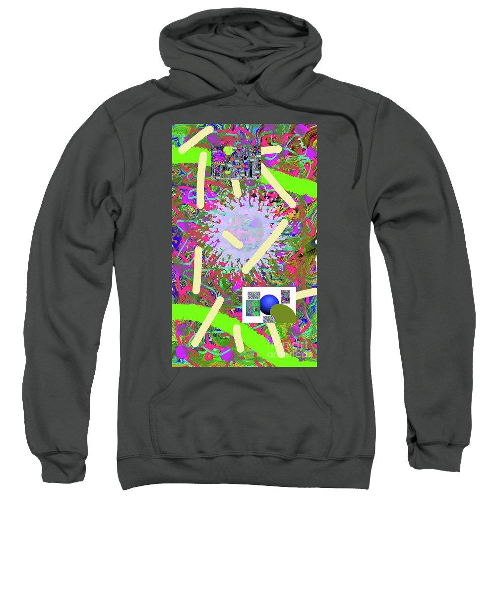 Walter Paul Bebirian Sweatshirt featuring the digital art 3-21-2015abcdefg by Walter Paul Bebirian