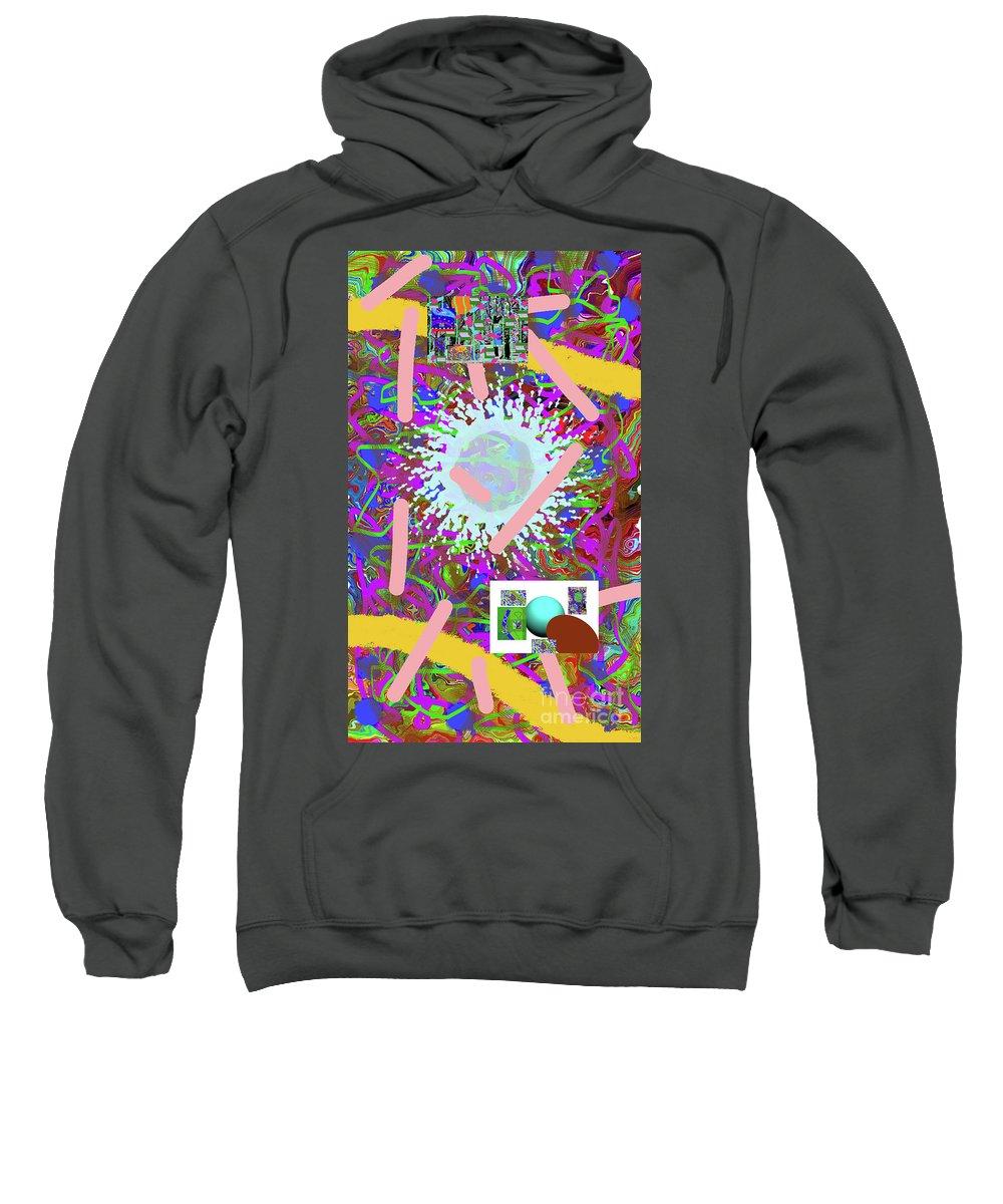 Walter Paul Bebirian Sweatshirt featuring the digital art 3-21-2015abcdefghijkl by Walter Paul Bebirian