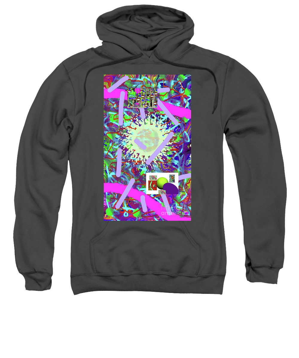 Walter Paul Bebirian Sweatshirt featuring the digital art 3-21-2015abcdefghijklmnopqrtuvw by Walter Paul Bebirian
