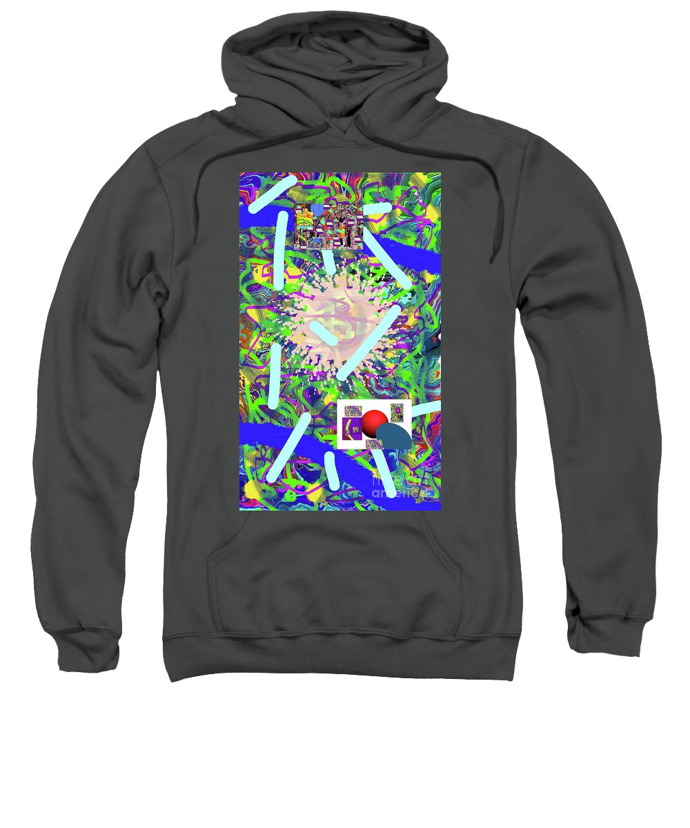 Walter Paul Bebirian Sweatshirt featuring the digital art 3-21-2015abcdefghijklmnopqrtuvwxyzabcde by Walter Paul Bebirian