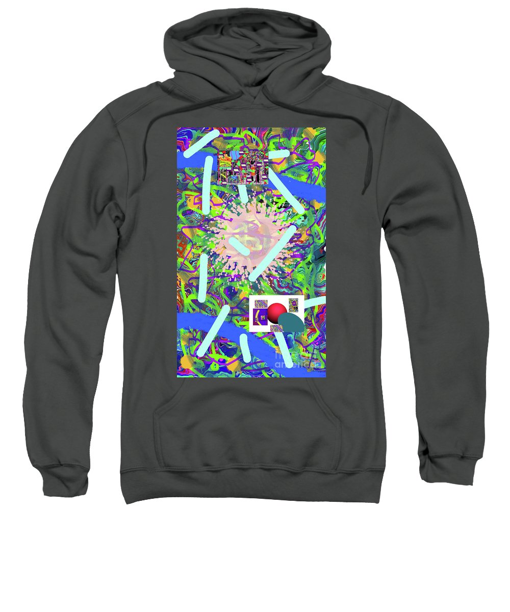 Walter Paul Bebirian Sweatshirt featuring the digital art 3-21-2015abcdefghijklmnopqrtuvwxyzabcdef by Walter Paul Bebirian