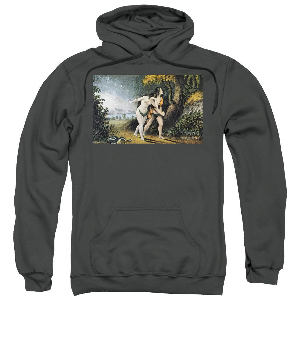 Adam Sweatshirt featuring the photograph Adam And Eve by Granger