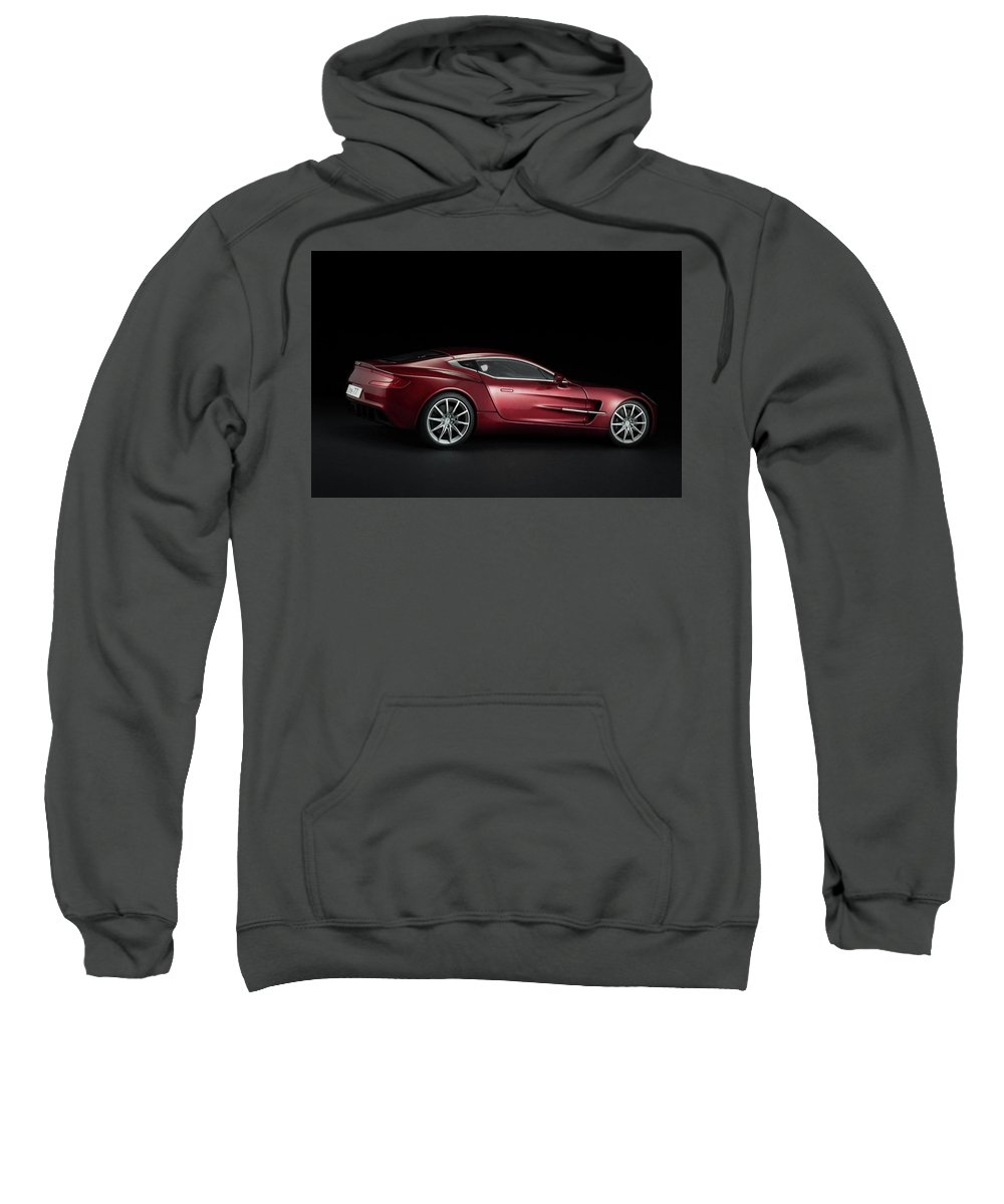 Aston Martin Sweatshirt featuring the photograph Aston Martin One-77 by Evgeny Rivkin