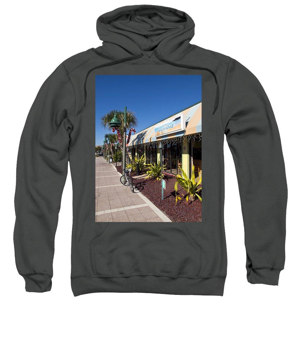 Florida Sweatshirt featuring the photograph Beachland Boulevard At Vero Beach In Florida by Allan Hughes