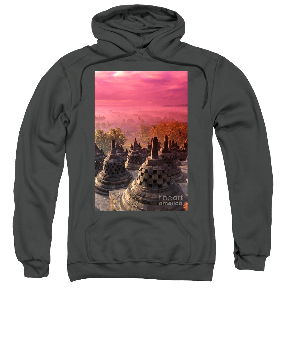 Ancient Sweatshirt featuring the photograph Borobudor Temple by Gloria & Richard Maschmeyer - Printscapes