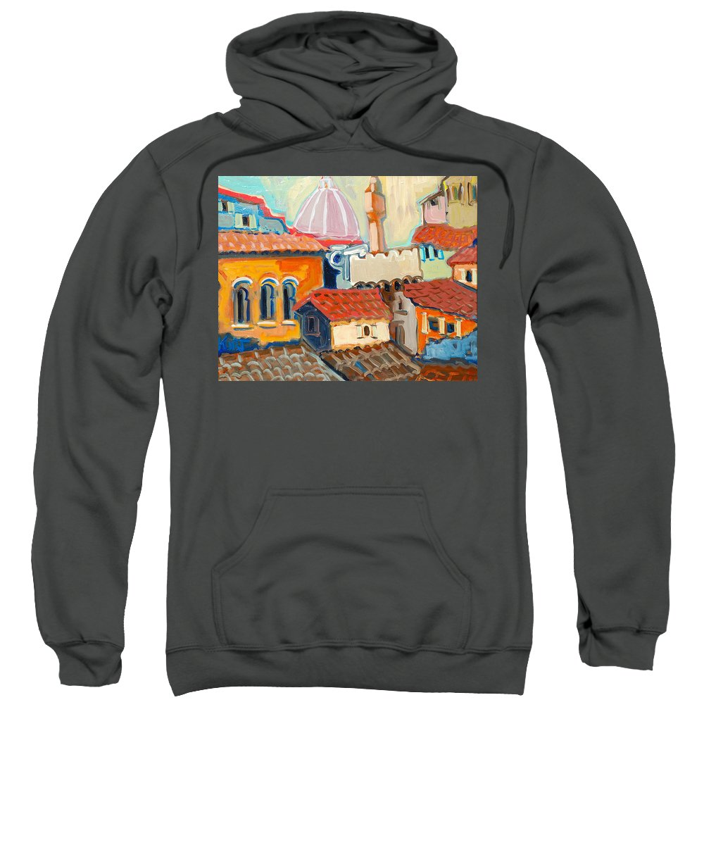 Italy Sweatshirt featuring the painting Florence by Kurt Hausmann