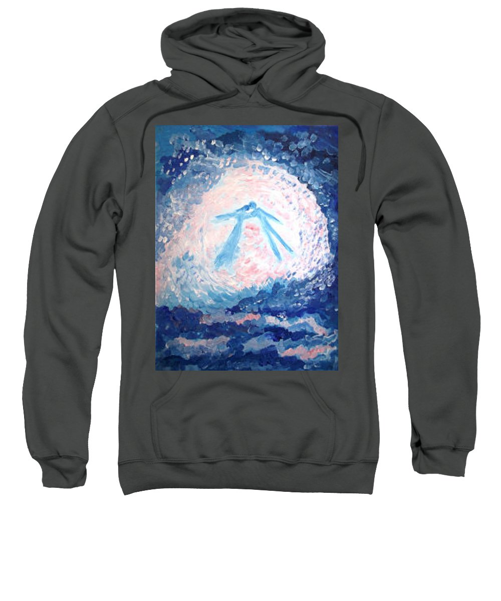 Love Sweatshirt featuring the painting Love by Victoria Dutu