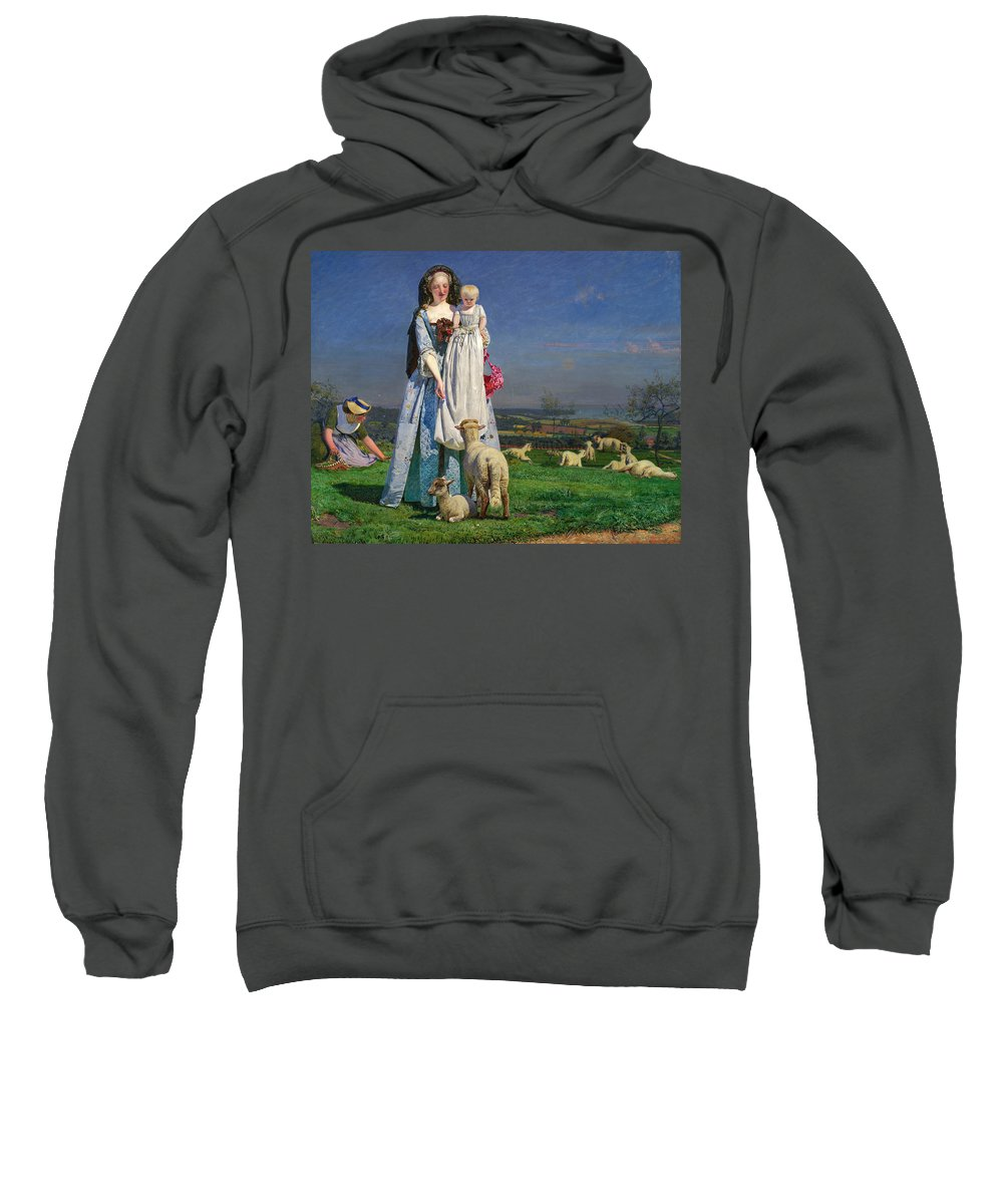 Pretty Baa Lambs Adult Pull Over Hoodie For Sale By Ford Madox Brown