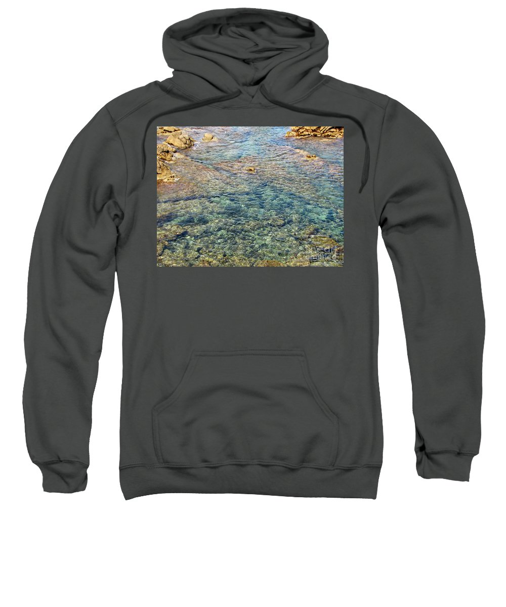 Nature Sweatshirt featuring the pyrography sea by Yury Bashkin