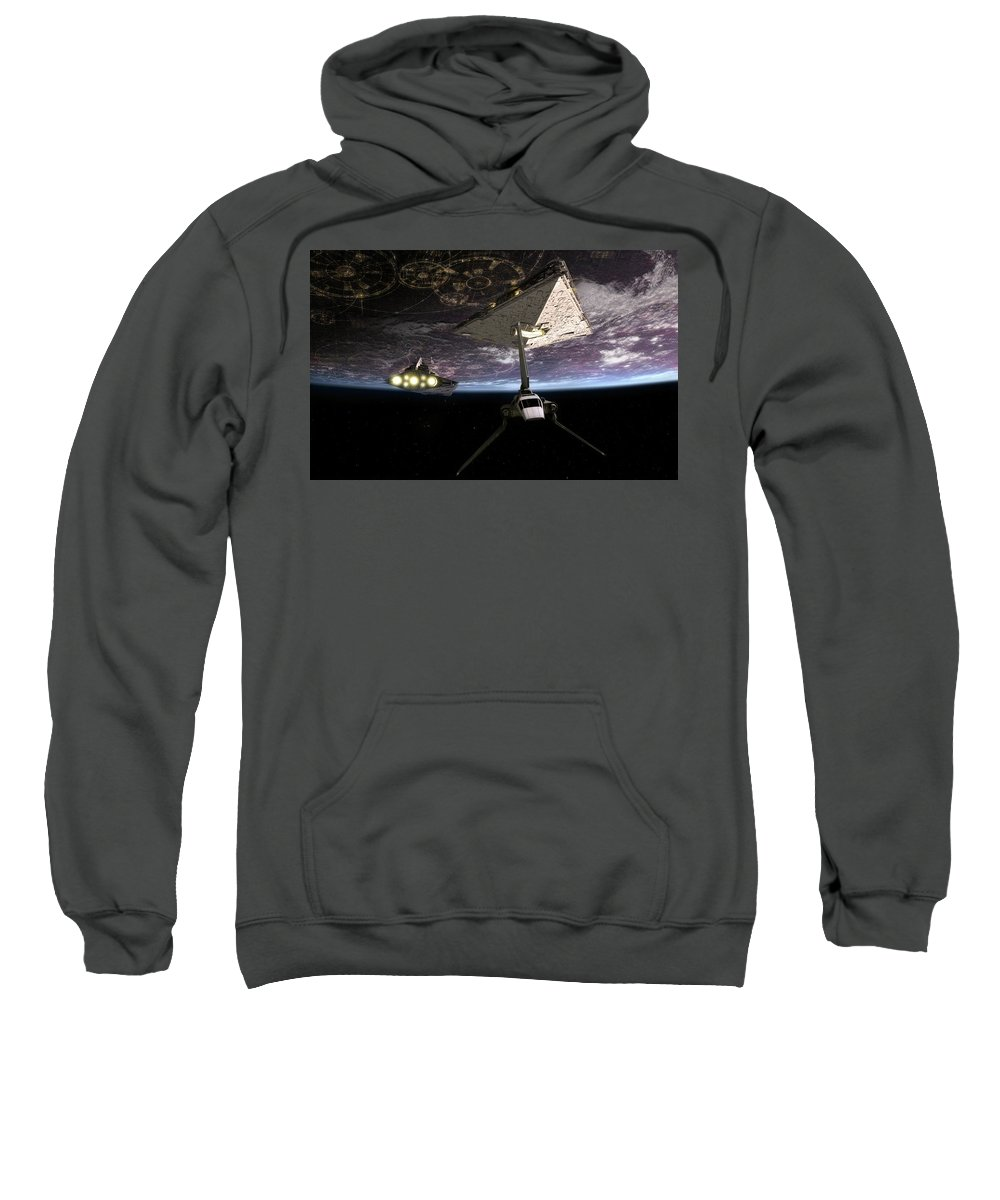 Star Wars Sweatshirt featuring the digital art Star Wars by Bert Mailer