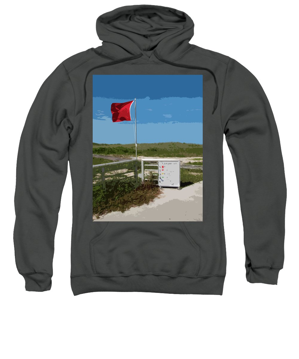 Storm Sweatshirt featuring the painting Storm Warning On The Atlantic Ocean In Florida by Allan Hughes