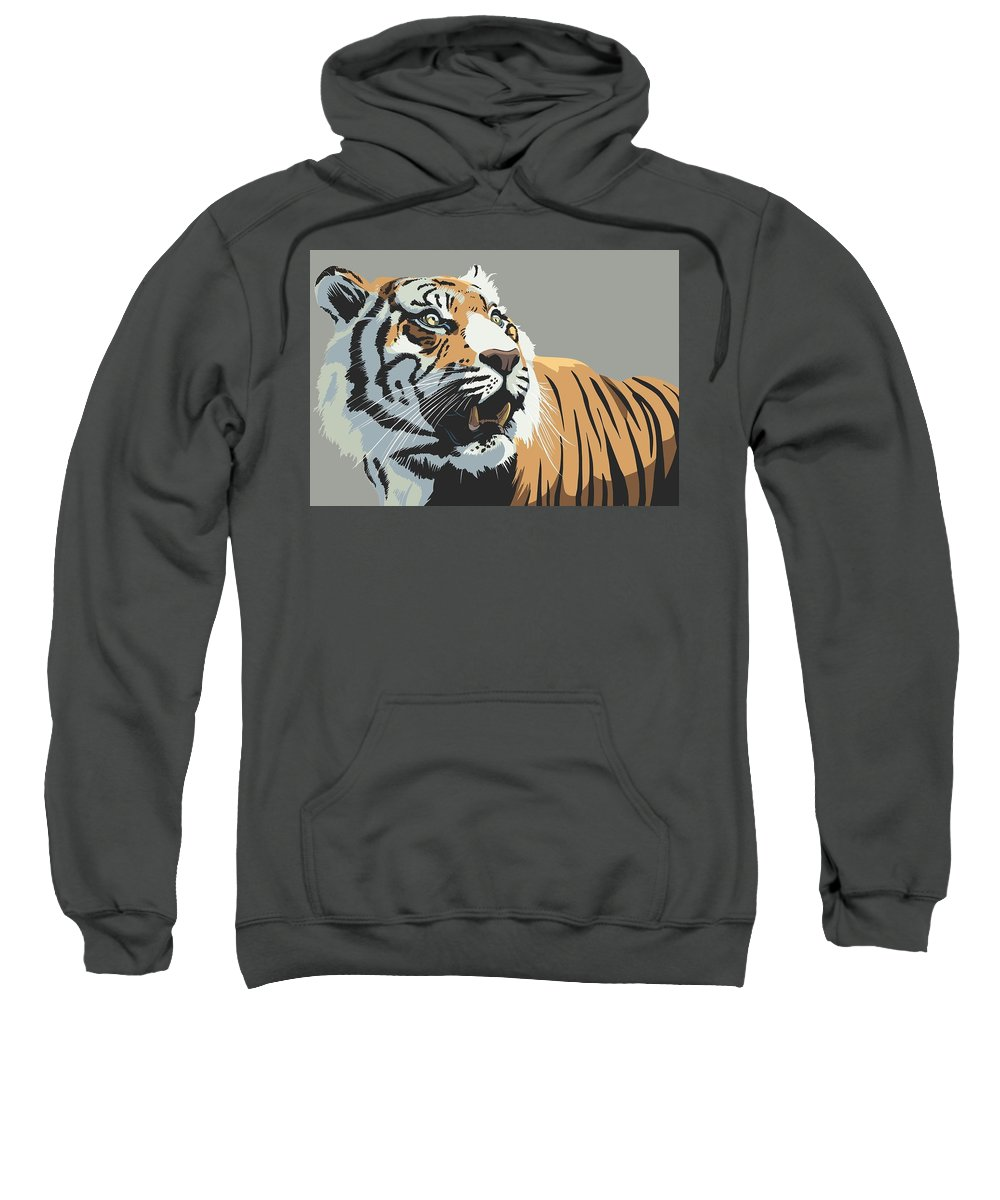 Tiger Sweatshirt featuring the digital art Tiger by Bert Mailer