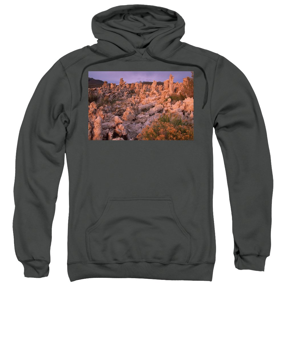 Tufa Sweatshirt featuring the photograph Tufa Towers - Mono Lake by Soli Deo Gloria Wilderness And Wildlife Photography