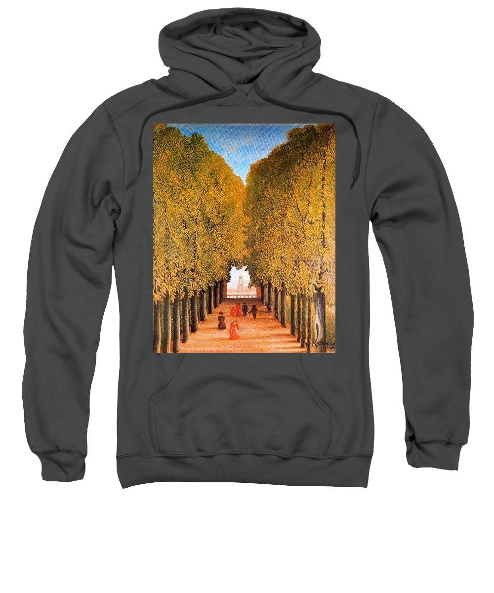 Tree Sweatshirt featuring the digital art 31165 Henri Rousseau by Eloisa Mannion
