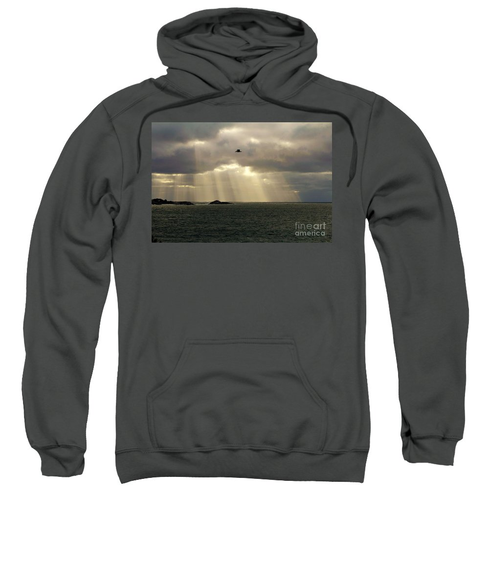 Peaches Point Sweatshirt featuring the photograph Marblehead Ma by Donn Ingemie