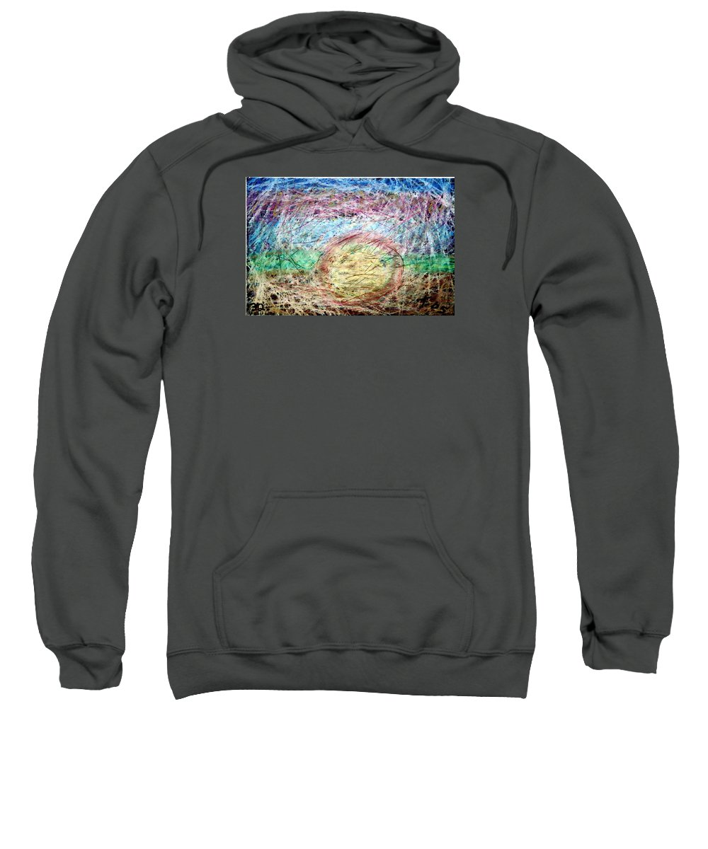 Sweatshirt featuring the painting 32 by Terry Wiklund