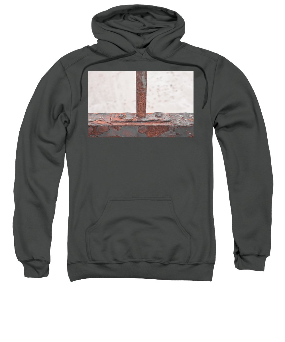 Abstract Sweatshirt featuring the photograph Rusty Metal by Tom Gowanlock