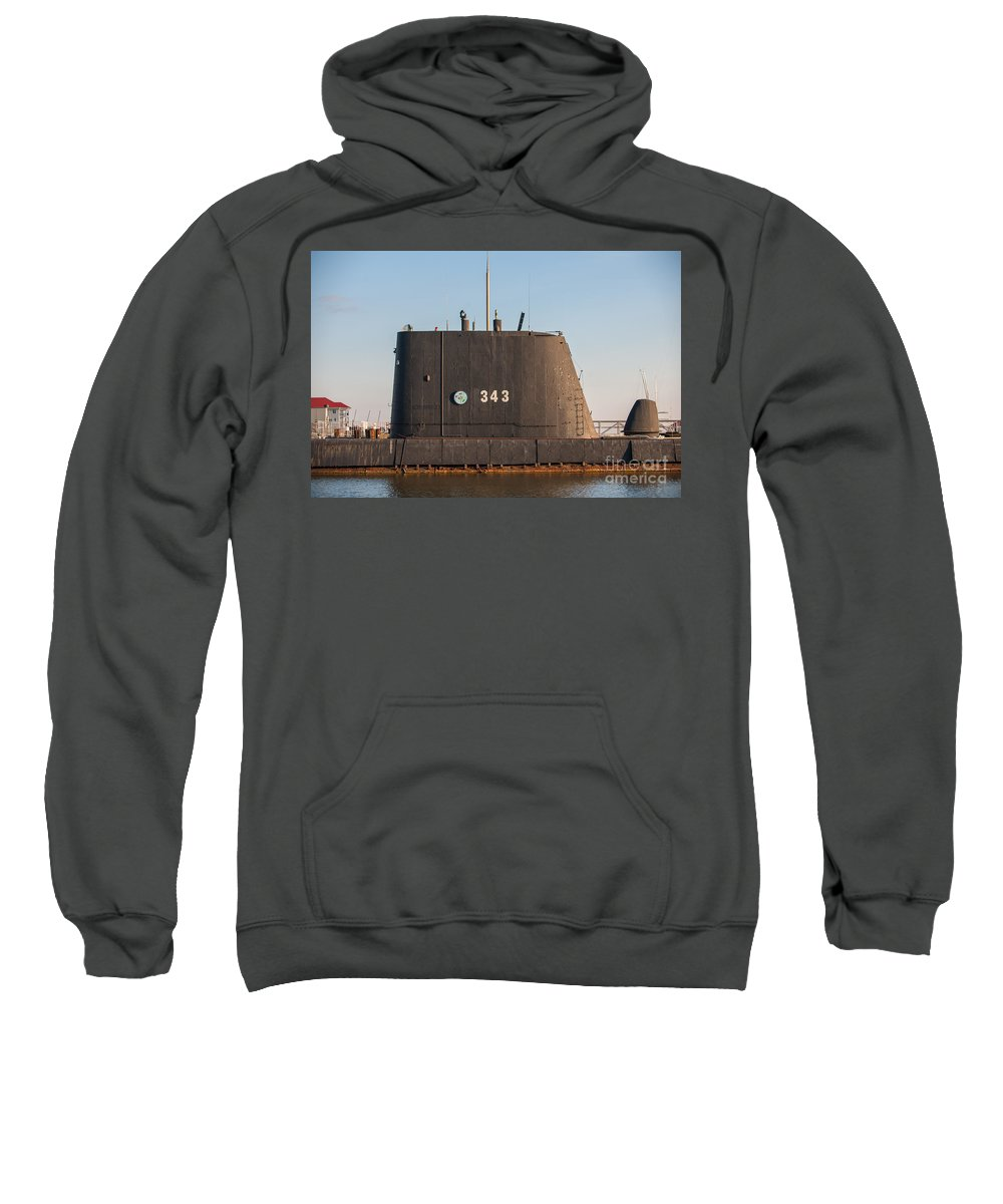 343 Sweatshirt featuring the photograph 343 Uss Clamagore Diesel by Dale Powell