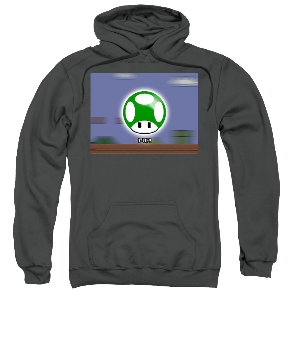 Mario Sweatshirt featuring the digital art Mario by Mery Moon