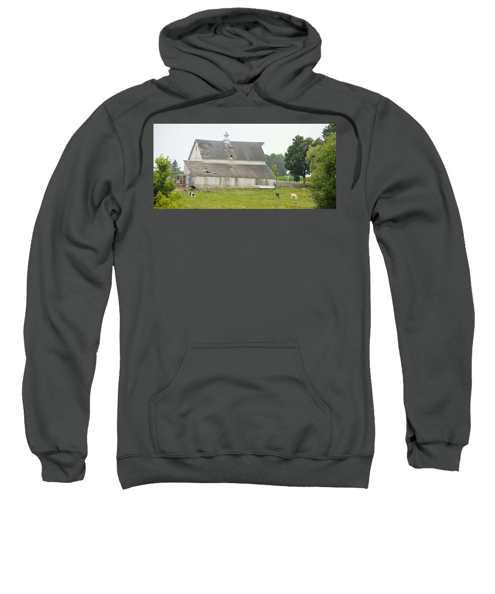 Iowa Sweatshirt featuring the photograph 386th Dairy Panorama by Bonfire Photography