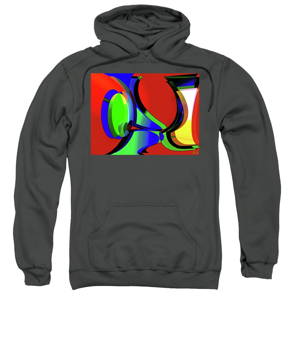Curious Sweatshirt featuring the digital art 3d-curiosity Of Science by Helmut Rottler