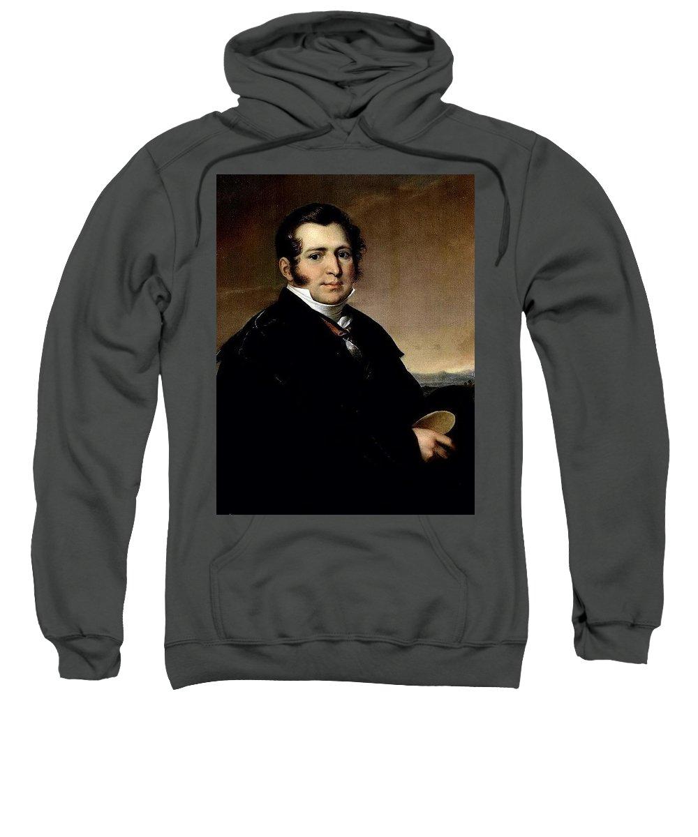 Suit Sweatshirt featuring the digital art   1820- Vasily Tropinin by Eloisa Mannion
