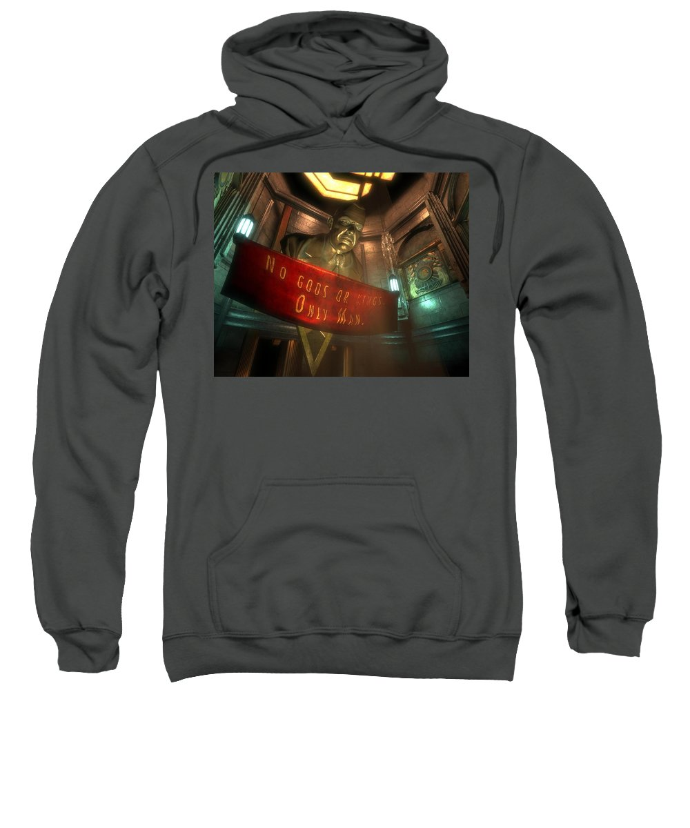 Bioshock Sweatshirt featuring the digital art Bioshock by Mery Moon