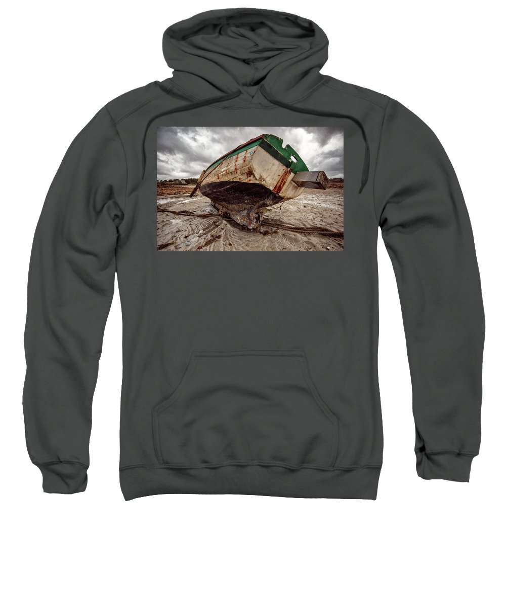 Boat Sweatshirt featuring the photograph Boats By The Sea by Nailia Schwarz