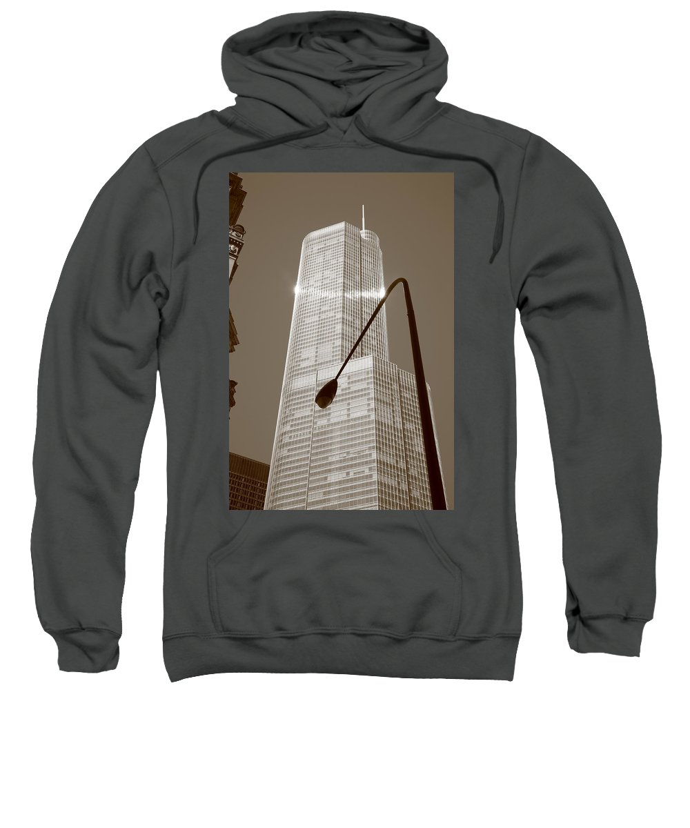 America Sweatshirt featuring the photograph Chicago Skyscraper by Frank Romeo