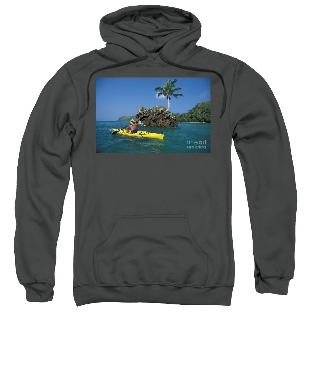 Afternoon Sweatshirt featuring the photograph Fiji, Kadavu Island by Ron Dahlquist - Printscapes