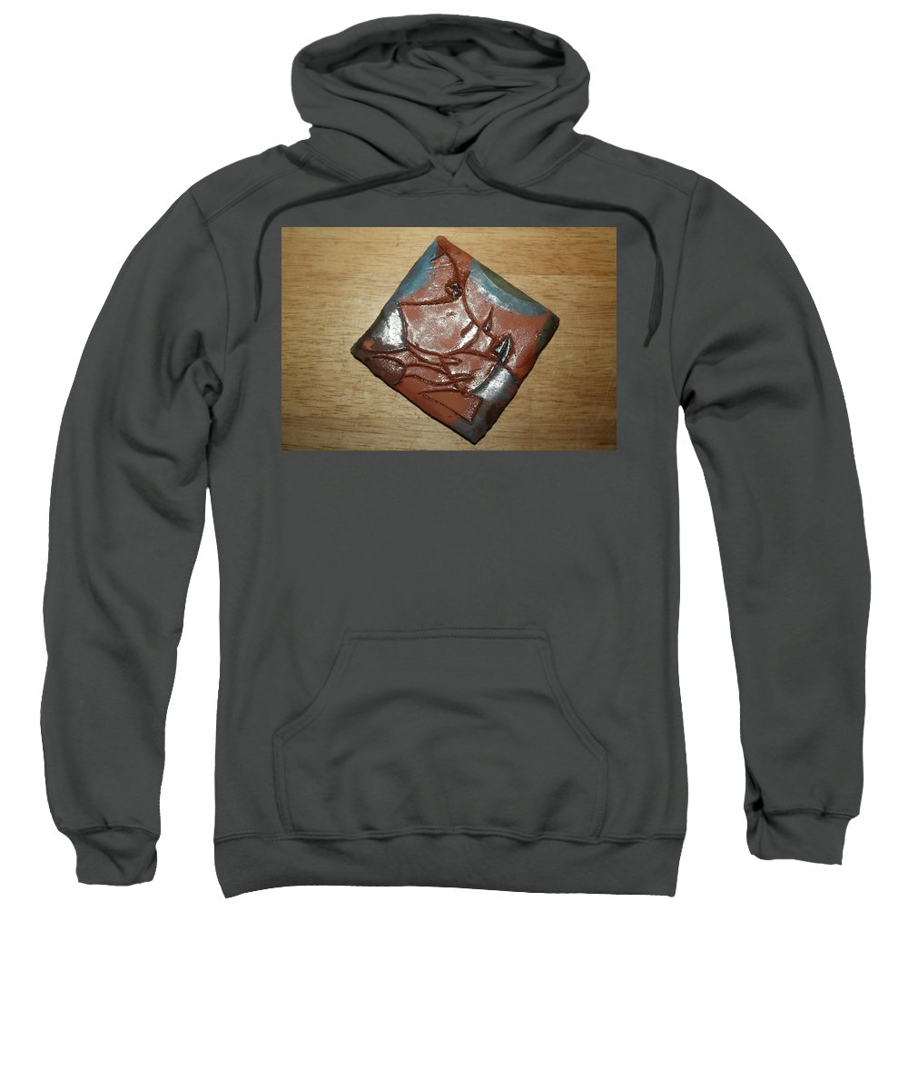 Jesus Sweatshirt featuring the ceramic art Friends - Tile by Gloria Ssali